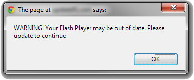 Fake Adobe Flash Player Update Screenshot