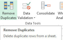 Remove Excel Duplicates