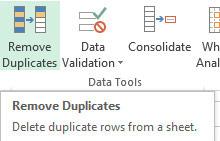 Remove Excel Duplicates